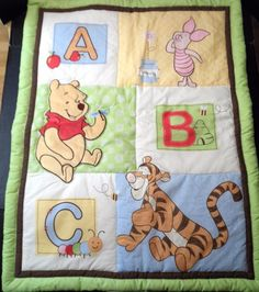 $34.98/Unisex Newborn/Infant/Baby Reversible Crib Quilt/Comforter/Blanket/Coverlet features Winnie the Pooh, Tigger & Piglet www.shellyssweetfinds.com ~~view over 20 categories of merchandise in my store SHIPPING is ALWAYS FREE in the USA; I ship globally!