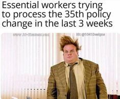 Fourteen Exhausted Memes For The Underappreciated Essential Workers Grappige Dingen, Grappige Humor, E Cards Humor, Hilarische Grappen, School, Hilarisch, Grappen, Leven, Corona