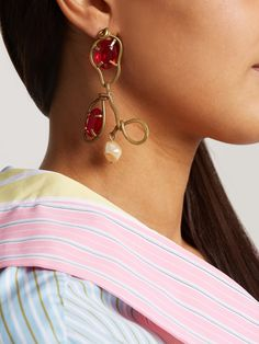 Sylvie Web crystal-embellished earrings Gucci PO3EvQ8s99