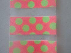 Neon Peach with Neon Green Spots Planner by WashiPlannerStickers