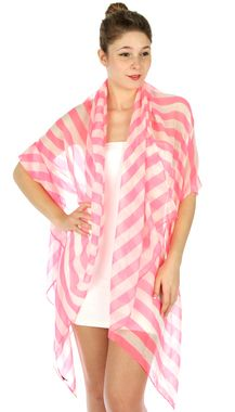 Pink Stripe Super Long Fashion Scarf