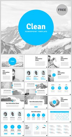 FREE Download link: http://site2max.pro/clean-free-powerpoint-template/ 18…