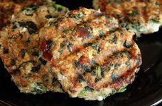 Turkey feta spinach burgers