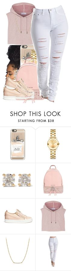 """Im as hot as a pepper"" by thaofficialtrillqueen ❤ liked on Polyvore featuring Casetify, Movado, Anita Ko, MICHAEL Michael Kors, Giuseppe Zanotti, adidas and David Yurman"