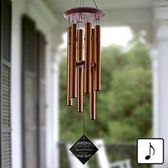 Buy personalized memorial wind chimes and add any name and memorial date to be engraved on the wind catcher. Free personalization & fast shipping.