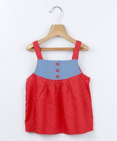 Look what I found on #zulily! Red Polka Dot Yoke Tank - Infant, Toddler & Girls by Beebay #zulilyfinds