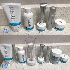 Your perfect AM and PM REDEFINE regimen! Jwells21.myrandf.com Jenwells21@gmail.com 661 755 6852