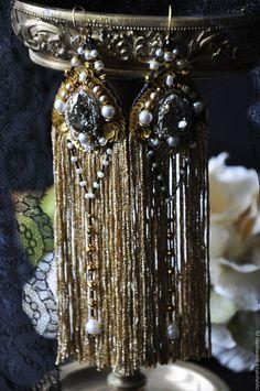 """Купить Серьги """"Jadore"""" - золотой, золотистые серьги, роскошь, новогоднее украшение, роскошные серьги"""