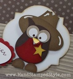 Owl Punch Cowboy   Stampin' Up!