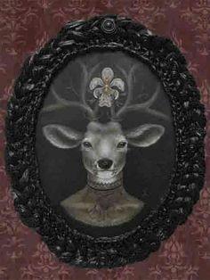 Dear Prudence by Larkin Tattoo Art Print Steampunk Deer Portrait #PopArt