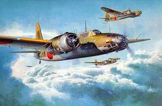 Nakajima Ki-49-II Type 100 Bomber Donryu 'Helen' by Shigeo Koike