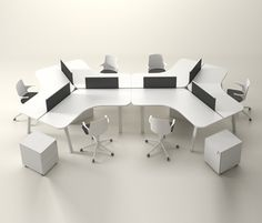 Alea Office Atreo Series 8 week lead time – Home Office Design Layout Bureau Design, Workspace Design, Office Workspace, Office Decor, Open Office Design, Open Space Office, Industrial Office Design, Office Furniture Design, Office Interior Design