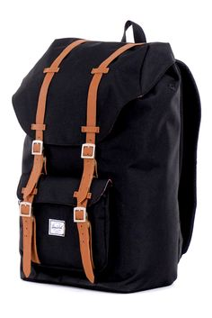 Herschel Supply Co.  Little America Pack in Black  $84.00  Taking its inspiration from classic mountaineering, the updated shape of this pack not only fits great but is perfect for any situation.