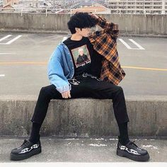 urban mens fashion which is trendy. 206199 - Luminara Hatake - urban mens fashion which is trendy. 206199 urban mens fashion which is trendy. Fashion Male, Korean Fashion Men, Korean Street Fashion, Mens Fashion, Mens Grunge Fashion, Grunge Men, Androgynous Fashion, Indie Outfits, Korean Outfits