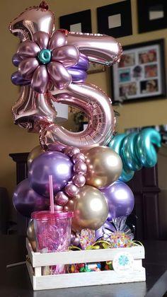 Balloon Crafts, Balloon Gift, Balloon Garland, Birthday Balloon Decorations, Birthday Balloons, Diy Birthday, Birthday Parties, Balloon Arrangements, Balloon Columns
