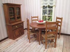 Vintage Furniture For Dollhouse   Dining Room Set   Made In Germany    1920 30 | Home | Pinterest | Vintage Furniture, Dining Room Sets And Room  Set