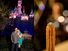 Disneyland engagement session, churro engagement ring, sleeping beauties castle Southern California wedding photographer | Kirstin Burrows Photography | 714-844-2130 www.kirstinburrowsphotography.com