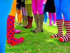 """""""One can never have enough socks,"""" said Dumbledore. """"Another Christmas has come and gone and I didn't get a single pair. People will insist on giving me books.""""   ― J.K. Rowling, Harry Potter and the Sorcerer's Stone    -Wear your snazzy socks today."""