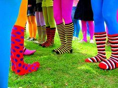 I love crazy, bright, fun, and whacky socks!