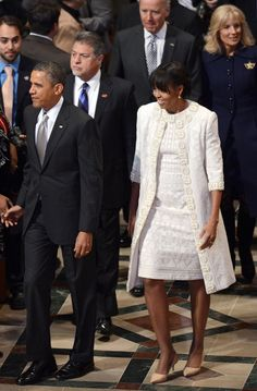 Michelle Obama wears Naeem Khan to the National Prayer Service