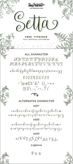 Free Font: Setta Script Typeface- Pretty! - Free Pretty Things For You
