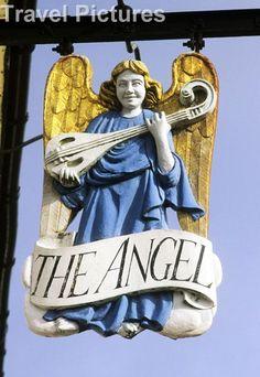 The Angel Inn Pub Sign, Lavenham, Suffolk