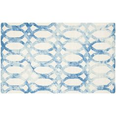 Safavieh Hendrix Geometric Dip-Dyed Wool Rug ($200) ❤ liked on Polyvore featuring home, rugs, ivory blue, wool rugs, ivory area rug, wool area rugs, cream rug and blue wool rug