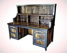 Industrial mesa aparador reclamado madera y acero muebles
