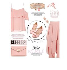 """Pink Ruffle"" by hmrodeck ❤ liked on Polyvore featuring BB Dakota, Chantecaille, NAKAMOL and Accessorize"