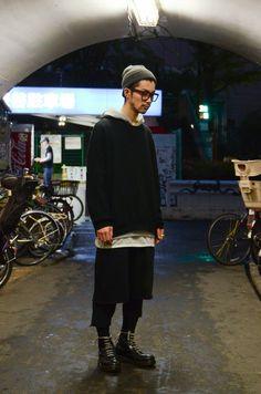 ストリートスナップ [JUNYA MORISHIMA] | BLACK SCALE, First Aid to the Injured, JieDa, MUZE, ジエダ, ブラックスケール, ミューズ | 渋谷 | Fashionsnap.com