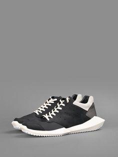 adidas x Rick Owens Tech Runner: Black/White
