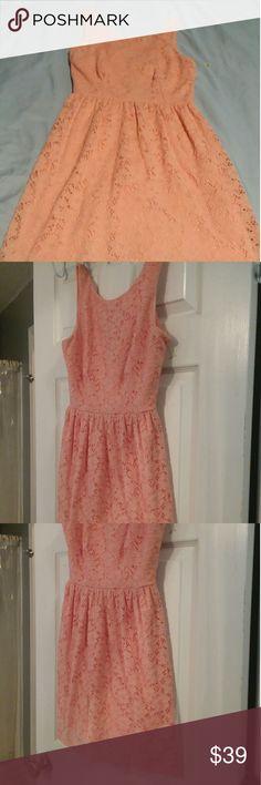 Mystic dress Peach color . Very beautiful. Used but looks new. mystic Dresses Mini