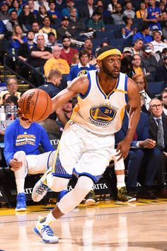 Ian Clark of the Golden State Warriors handles the ball against the Utah Jazz on April 10 2017 at ORACLE Arena in Oakland California NOTE TO USER...