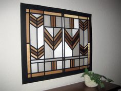 Stained Glass Prairie Inspired Fabric Wall Art