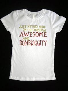 Funny Princess Style Tshirt - Awesome and Bombdiggity - Funny Saying Girls Shirt - Children's Clothing. $16.00, via Etsy.