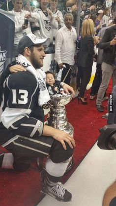 Peaceful baby in the Stanley Cup