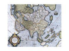 Map of Asia, Pages 74-75 of 'Atlas Sive Cosmographicae Meditationes De Fabrica Mundi Et Fabricati Figura'