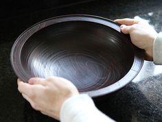 Large Lacquer Zelkova Bowl by Hiroyuki Sugawara at OEN Shop