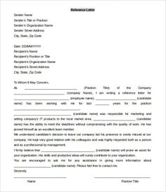 microsoft word reference letter template