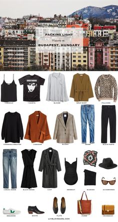 Do you need ideas on what to pack for Budapest, Hungary in the spring? Head over… Do you need ideas on what to pack for Budapest, Hungary in the spring? Head over to my post for what to pack and outfit ideas. Travel Wardrobe, Capsule Wardrobe, Black Dress Coat, Quoi Porter, Packing List For Travel, Fall Packing, Europe Packing, Vacation Packing, Travel Capsule