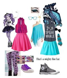 """2 types of mad"" by thebrokendolly on Polyvore featuring Minnie Rose, Moschino, Burnetie, Converse, Fifth Sun and Ray-Ban"