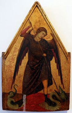 Ugolino di Nerio (1280? – 1349) was an Italian painter  san michele arcangelo, xiv sec. - Ugolino di Nerio - Wikipedia