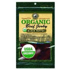 Organic Jerky--if you eat meat, this will give you protein, energy, and is convenient and easy in an emergency. Don't use crap like Slim Jims when you can use real, organic, dried meat.