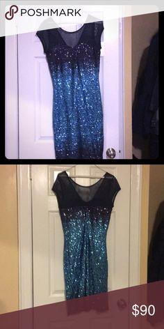 Three shades of Blue Cocktail dress Three shades Blue Dress Speechless Dresses High Low