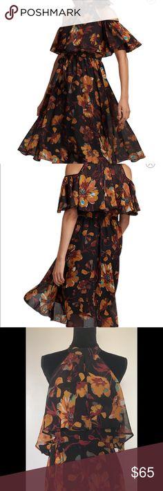 ECO Floral Print Cold Shoulder Dress ECO Floral Print Cold Shoulder Dress in size 8 ECI Dresses