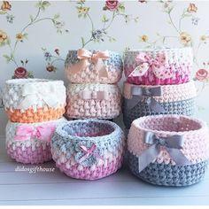 Meu Mundo Craft: Crochê com fio de malha