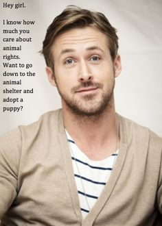 Why yes...Ryan, I do believe in the rights of animals.
