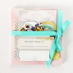 DIY: handmade mini notepad holder - Janna Werner for #CratePaper
