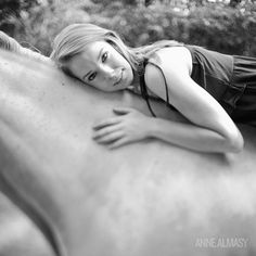 This high school senior wanted to be photographed with her horse. I love the lines of this.