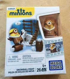 MEGA BLOKS MINIONS Movie Snowball Fight Toy Set-NEW